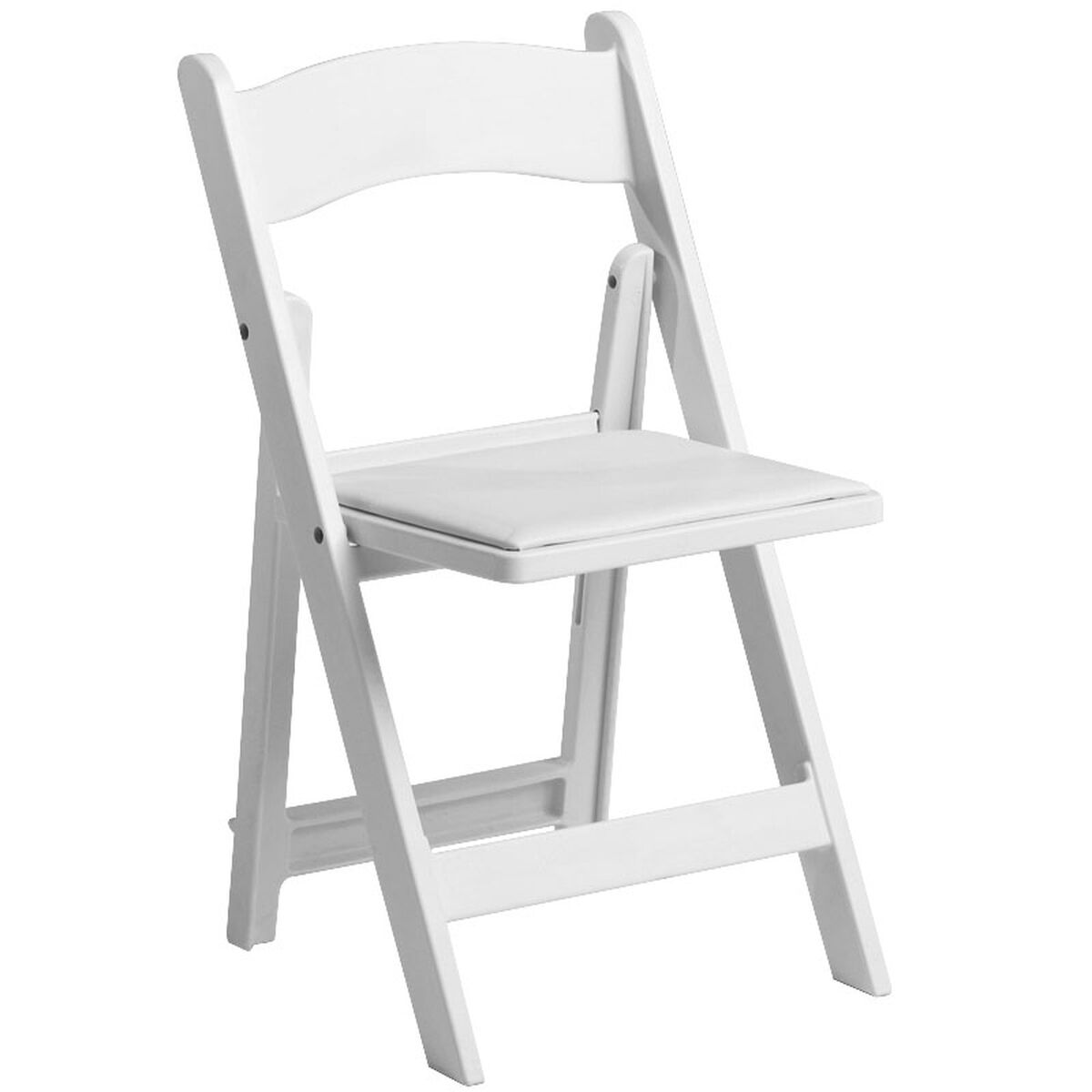 1000 Lb. Max White Resin Folding Chair