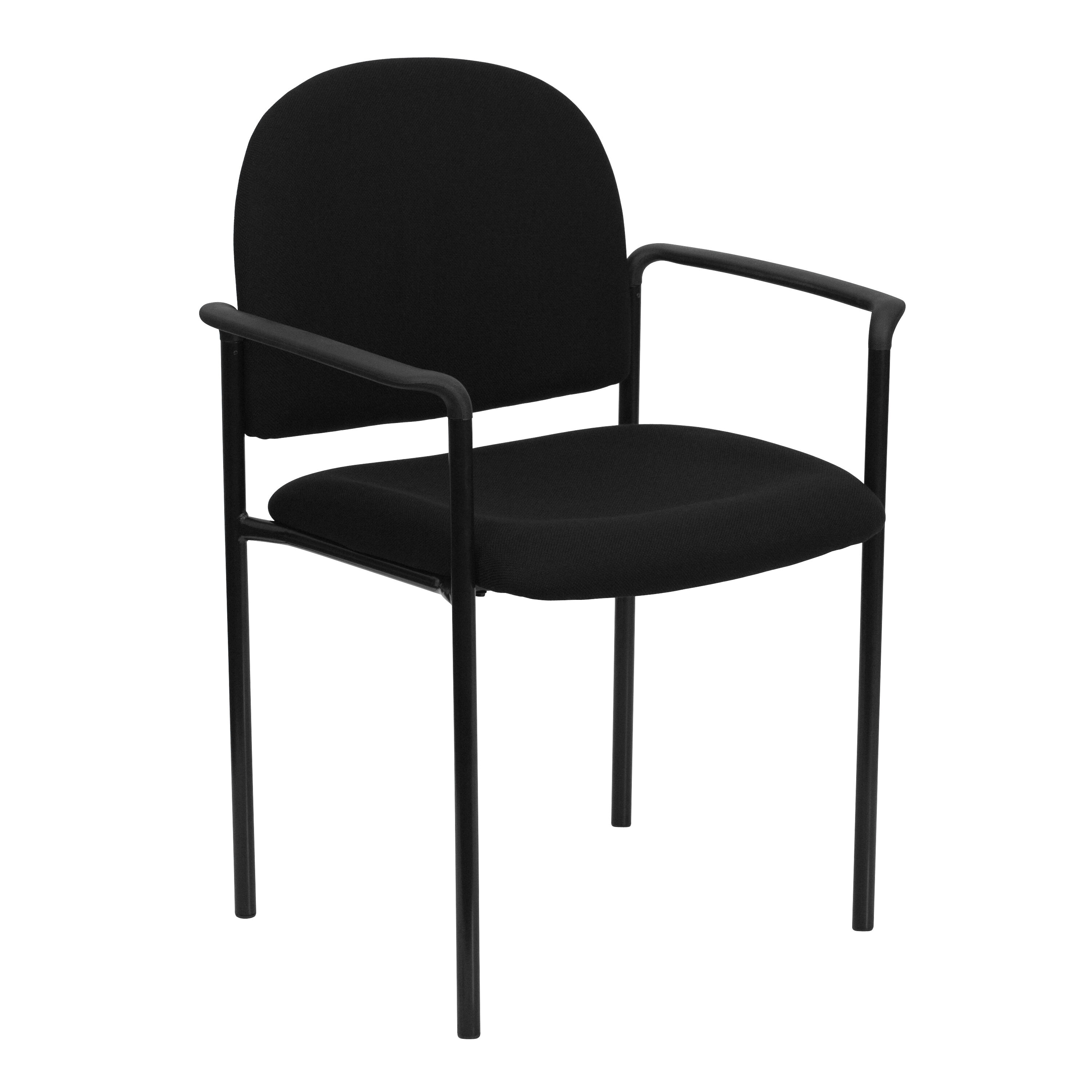 ... Our Comfort Black Fabric Stackable Steel Side Reception Chair With Arms  Is On Sale Now.