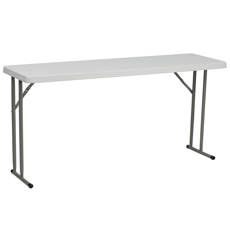 - 18x60 White Fold Train Table RB-1860-GG ChurchChairs4Less.com