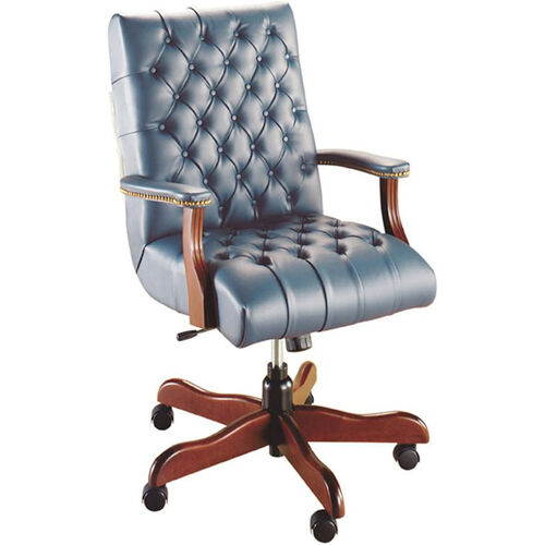 Our Quick Ship Scoop Traditional Executive Swivel Chair with Platform Arms is on sale now.