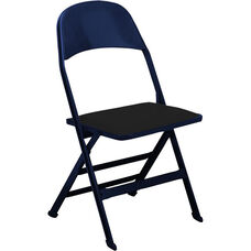 2000 Series Vinyl Upholstered Seat and Steel Back Panel Folding Chair with 14.25