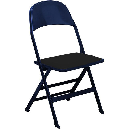 Our 2000 Series Vinyl Upholstered Seat and Steel Back Panel Folding Chair with 14.25