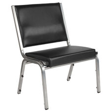 HERCULES Series 1500 lb. Rated Black Antimicrobial Vinyl Bariatric Antimicrobial Medical Reception Chair