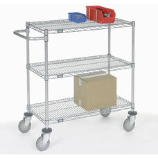Chrome Adjustable Wire Shelf Cart - 18