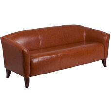 HERCULES Imperial Series Cognac LeatherSoft Sofa