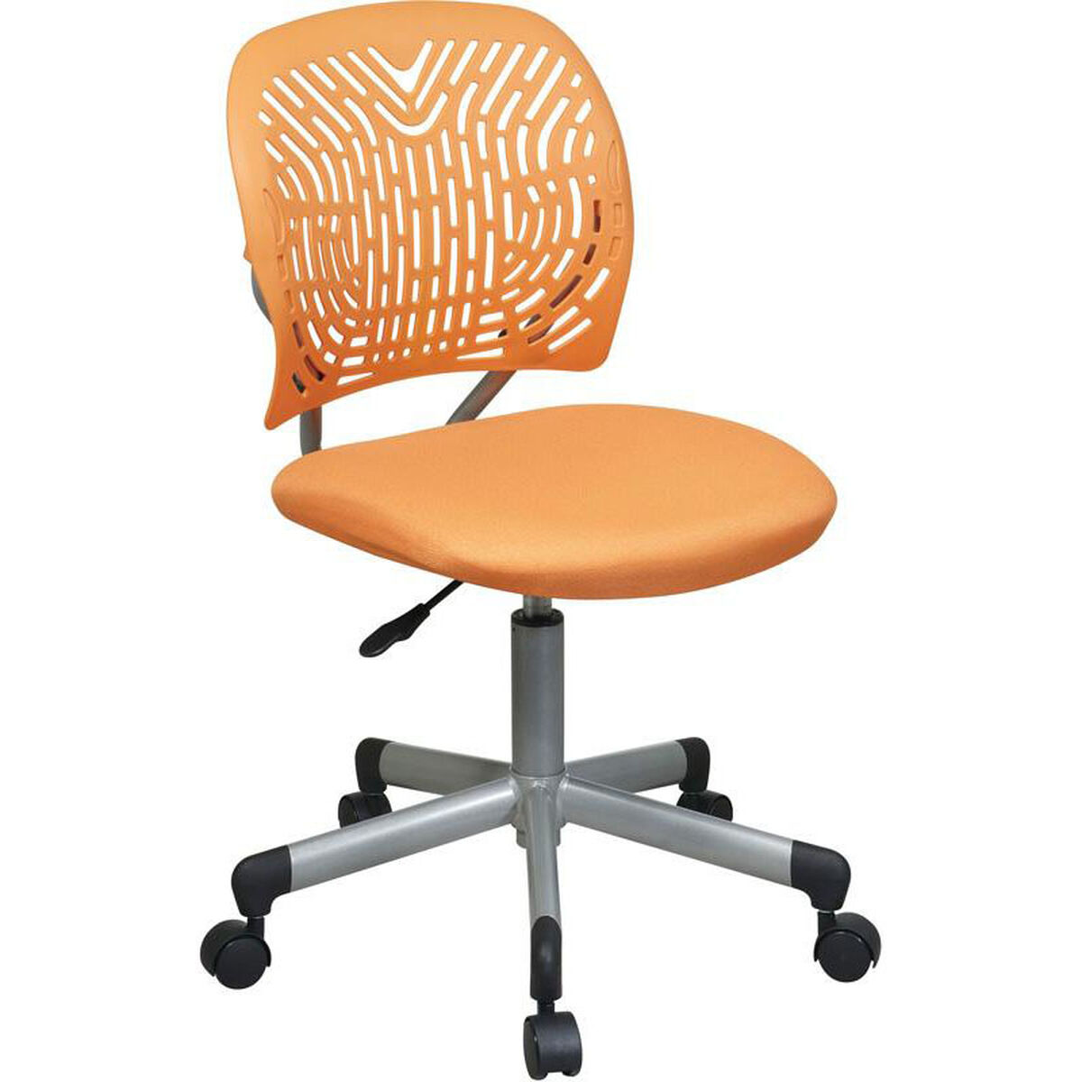 Our Osp Designs Designer Mesh Seat Computer Task Chair With Height Adjustment And Casters
