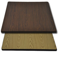 "Advantage 30""x30"" Restaurant Table Top - Oak / Walnut Reversible"