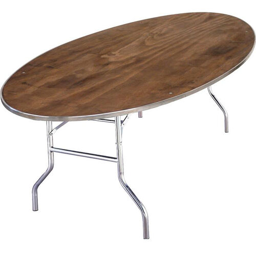 Our Standard Series Oval Banquet Table with Plywood Top - 96