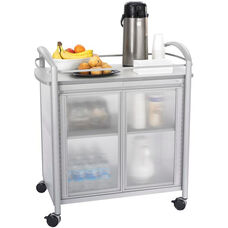 Impromptu® 34'' W x 21.25'' D x 36.5'' H Steel Frame Refreshment Cart - Gray