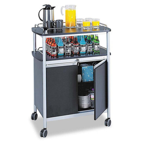 Our Safco® Mobile Beverage Cart - 33-1/2w x 21-3/4d x 43h - Black is on sale now.