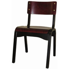 Custom Carlo Armless Stacking Guest Chair - Wood Seat