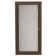 1 Door Outdoor Aluminum Framed Enclosed Bulletin Board - Bronze Anodized Finish - 24''H x 12''W
