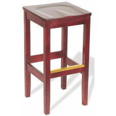 30''H Bulldog Backless Bar Stool - Wood Seat