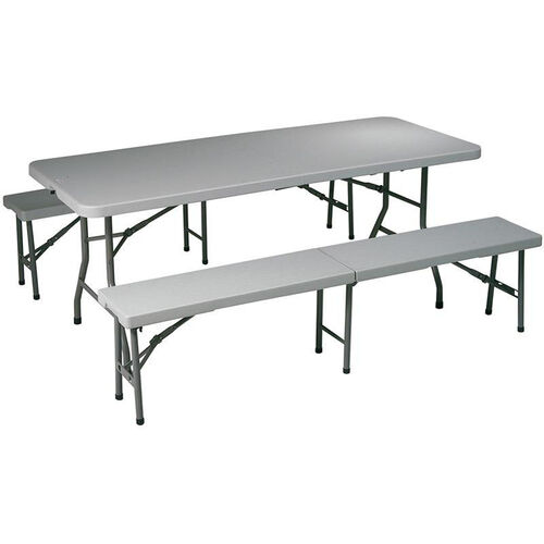 Our Work Smart Indoor or Outdoor Use 3-Piece Folding Table and Bench Set is on sale now.