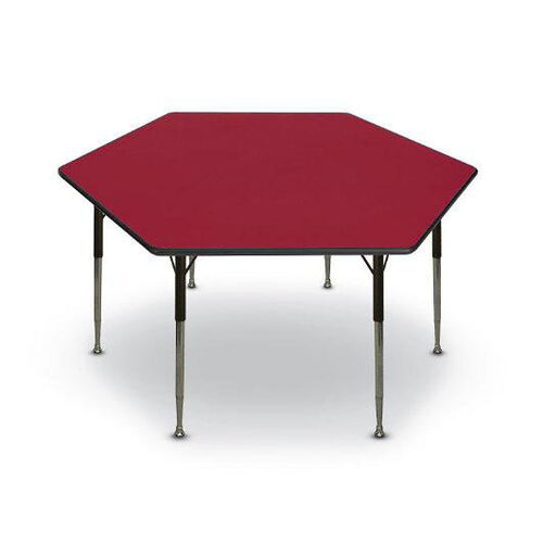 Our Hexagon Shaped Particleboard Activity Table - 48