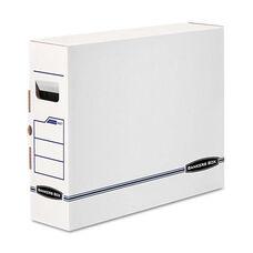 Bankers Box® X-Ray Storage Box - Film Jacket Size - 5 x 19 3/4 x 14 7/8 - White/Blue - 6/Carton