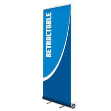 Start 800 Retractable Banner Stand with Silver Finish