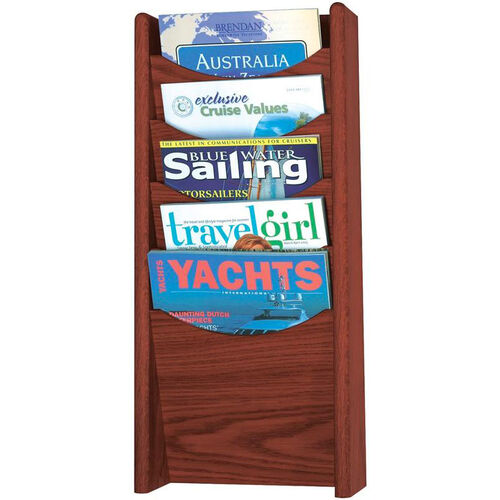 Our Wood Five Pocket Wall Mount Literature Display - Mahogany is on sale now.