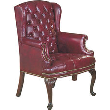 Quick Ship Traditional Series Tufted Full Size Wing Back Arm Chair