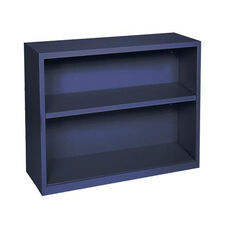 Elite Series 34.50'' W x 12.63'' D x 30'' H Two Shelf Welded Bookcase - Navy Blue