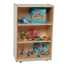 Kids Wood Mobile Storage Shelf with Easy Movement Casters - Assembled - 24