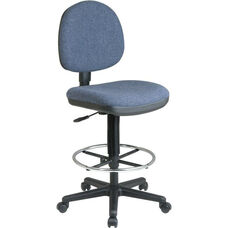 Work Smart Lumbar Support Chair with Adjustable Seat Height and Foot Rest
