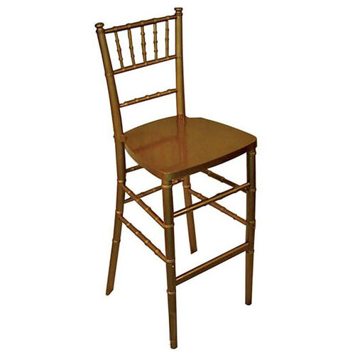 Our Legacy Series Stacking Wood Gloss Finish Chiavari Bar Stool - Gold Finish is on sale now.