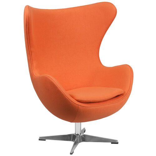Our Orange Wool Fabric Egg Chair with Tilt-Lock Mechanism is on sale now.