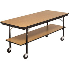 Stained and Sealed Laminate Mobile Utility Table - 30