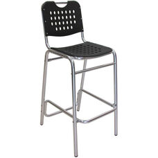 Palm Beach Collection Black Outdoor Barstool