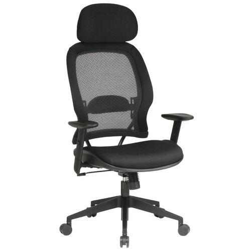 Our Space Air Grid Back Deluxe Task Chair with Mesh Seat and Adjustable Headrest - Black is on sale now.