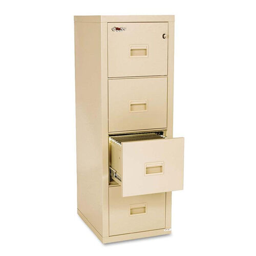FireKing® Turtle Four-Drawer File - 17 3/4w x 22 1/8d - UL Listed 350° for Fire - Parchment