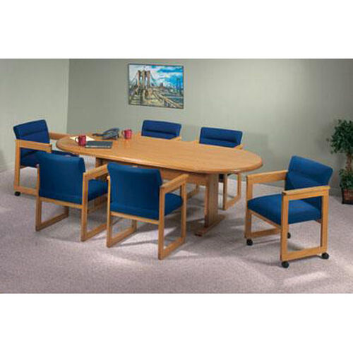 Our Contemporary Series Wood Conference Oval Table with Trestle Base is on sale now.