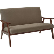 Ave Six Davis Loveseat - Klein Otter and Medium Espresso