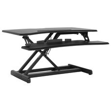 "HERCULES Series 30.25""W Black Sit / Stand Height Adjustable Desk with Height Lock Feature"