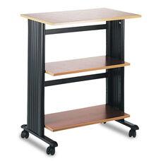 Safco® Muv Mobile Machine Cart - Three-Shelf - 29-1/2w x 20d x 35h - Cherry/Black