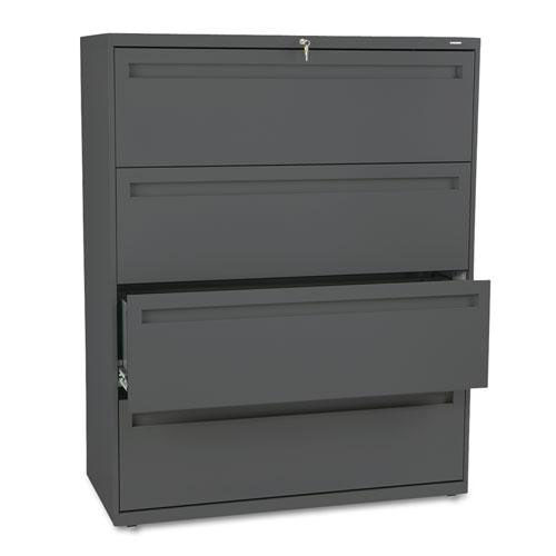 HON® 700 Series Four-Drawer Lateral File - 42w x 19-1/4d - Charcoal