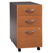 Series C 16''W x 20.5''D 3 Drawer Assembled Mobile Pedestal File Cabinet - Natural Cherry and Graphite Gray