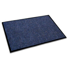 24''W x 36''L Ecotex Entrance Mat with Rib Design - Blue