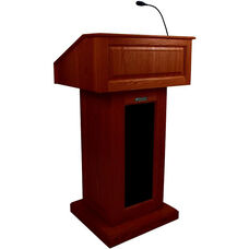 Victoria Wired 150 Watt Sound Lectern - Mahogany Finish - 26.375