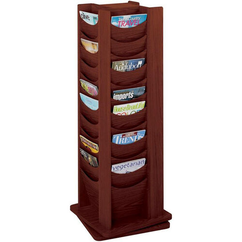 Our Forty-Eight Scoop Front Solid Wood Pocket on a 360 Degree Rotating Display - Mahogany is on sale now.
