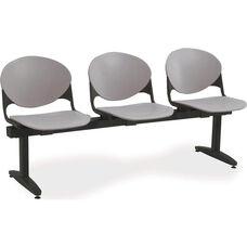 2000 Series Beam Seating with 3 Polypropylene Seats
