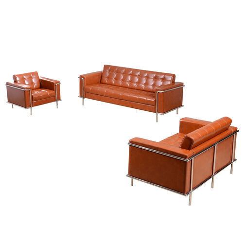 """Our HERCULES Lesley Series Reception Set in Cognac with <span style=""""color:#0000CD;"""">Free </span> Tables is on sale now."""
