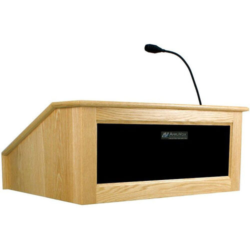Our Solid Hardwood Victoria Wired 150 Watt Sound Tabletop Lectern - Maple Finish - 27