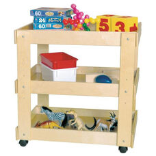 Children's Healthy Kids Plywood Mobile Utility Cart with Shelves - Assembled - 31''W x 20''D x 31''H