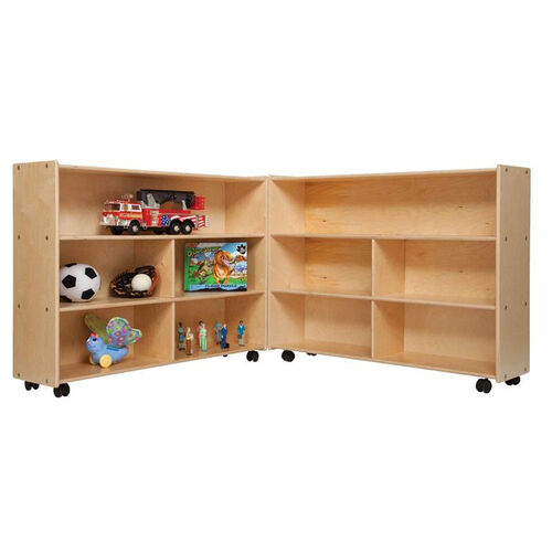 Our Mobile Folding Versatile Baltic Birch Plywood Storage Unit with Tuff-Gloss UV Finish - 93.5