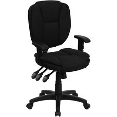 Mid-Back Multifunction Ergonomic Swivel Task Chair with Adjustable Arms