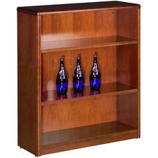OSP Furniture Sonoma Wood Bookcase/Open Hutch - Cherry
