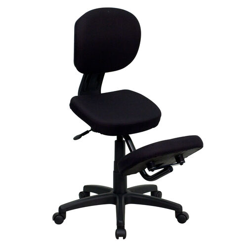 Our Mobile Ergonomic Kneeling Posture Task Office Chair with Back in Black Fabric is on sale now.