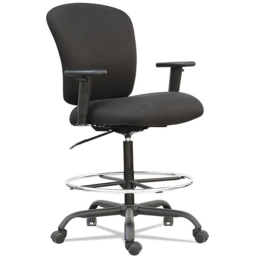 Our Alera® Mota Series Big and Tall Office Stool with Height-Adjustable Arms and Footring - Black is on sale now.